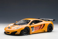 McLaren 12C GT3 Presentation Car Metallic Orange 1/18 Scale Diecast Car Model By AUTOart 81340