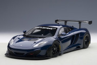 McLaren 12C GT3 Azure Blue 1/18 Scale Diecast Car Model By AUTOart 81344