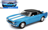 1968 Chevrolet Camaro Z28 Coupe Hard Top Blue 1/18 Scale Diecast Car Model By Maisto 31685