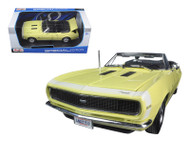 1967 Chevrolet Camaro SS 396 Convertible Yellow 1/18 Scale  Diecast Car Model By Maisto 31684