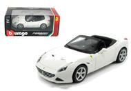 Ferrari California T Open Top White 1/24 Scale Diecast Car Model By Bburago 26011