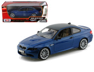 BMW M3 Coupe Blue Carbon Fiber Roof 1/18 Scale Diecast Car Model By MotorMax 73182