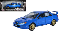 Subaru Impreza WRX STi Blue 1/24 Scale Diecast Car Model By MotorMax 73330