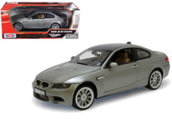 BMW M3 Coupe Grey 1/18 Scale Diecast Car Model By Motor Max 73182