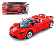 Pagani Zonda C12 Red 1/18 Scale Diecast Car Model By Motor Max 73147