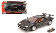 Lamborghini Countach Black 1/24 Scale Diecast Car Model By Motor Max 73219
