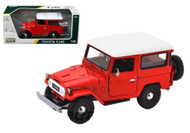 Toyota FJ40 FJ 40 Red Platinum 1/24 Scale Diecast Car Model By Motor Max 79323