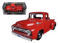 1956 Ford F-100 Pickup Truck Red 1/24 Scale Diecast Model By Motor Max 73235