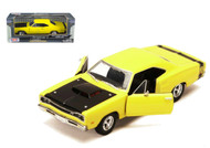 1969 Dodge Coronet Super Bee Yellow 1/24 Diecast Car Model By Motor Max 73315