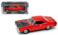1969 Dodge Coronet Super Bee Red 1/24 Diecast Car Model By Motor Max 73315