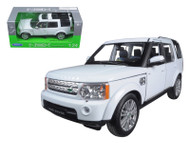 Range Rover Land Rover Discovery 4 White 1/24 Scale Diecast Model By Welly 24008