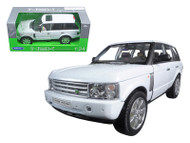 Land Rover Range Rover White SUV 1/24 Scle Diecast Model By Welly 22415