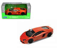 Lamborghini Aventador LP700-4 Orange 1/24 Scale Diecast Car Model By Welly 24033