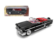 Motor Max 1/18 Scale 1958 Chevy Impala Convertible Black Diecast Car Model 73112