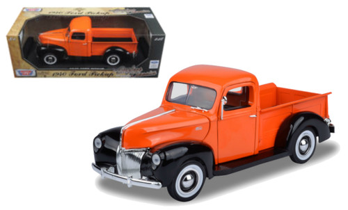 1940 Ford Pickup Truck Orange 1/18 Scale Diecast Model By Motor Max 73170