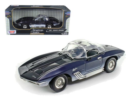 1961 Chevrolet Corvette Stingray Blue 1/18 Scale Diecast Car Model By Motor Max 73102