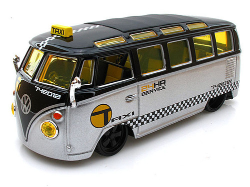 Volkswagen Samba Van Taxi Bus 1/25 Scale Diecast Car Model By Maisto 31364