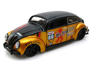 Maisto 1/25 Scale VW Volkswagen Beetle Schneller Kafer #89 Black & Gold Diecast Car Model 31023