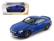 2012 Mercedes Benz SL63 AMG Blue 1/18 Scale Diecast Car Model By Maisto 36199