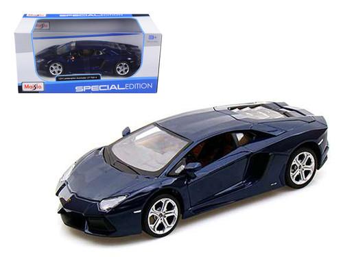 2011 Lamborghini Aventador LP-700-4 Blue 1/24 Scale Diecast Car Model By Maisto 31210