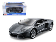 2011 Lamborghini Aventador LP-700-4 Grey 1/24 Scale Diecast Car Model By Maisto 31210