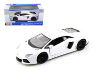 2011 Lamborghini Aventador LP-700-4 White 1/24 Scale Diecast Car Model By Maisto 31210