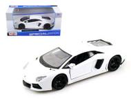 2011 Lamborghini Aventador LP-700-4 White 1/24 Scale Diecast Car Model By Maisto 31210