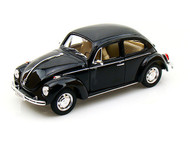 Volkswagen Beetle VW Black 1/24 Scale Diecast Car Model By Welly 22436