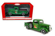 Motor City Classics MCC 1/24 Scale Coke Coca Cola 1937 Ford Pick Up Truck Green Diecast Model 424001