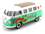 1962 Volkswagen Samba Minibus Drink Coca Cola 1/18 Scale Diecast Car Model By Motor City Classics 434478