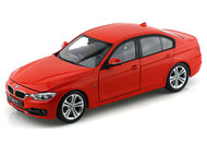 Welly 1/18 Scale BMW 335i Red Diecast Car Model 18043