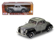 1940 Ford Deluxe Grey & Black Timeless Classics 1/18 Scale Diecast Car Model By Motor Max 73108