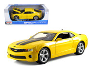 2010 Chevy Camaro SS RS Yellow 1/18 Scale Diecast Car Model By Maisto 31173