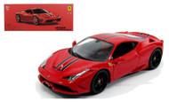 Ferrari 458 Speciale Signature Series Red 1/18 Scale Diecast Car Model By Bburago 16903