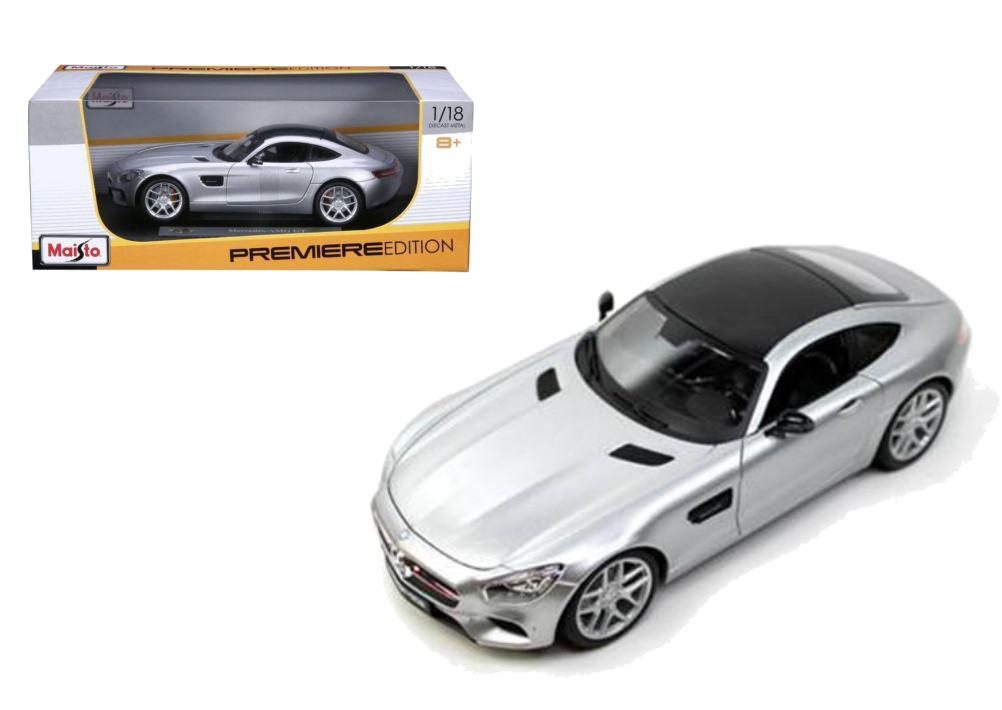 Mercedes benz amg gt silver 1 18 scale diecast car model for Mercedes benz scale model cars