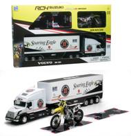 Newray 1/12 Scale Volvo VN-780 Semi Truck & Trailer & 2015 Suzuki RM-Z 450 #94 Ken Roczen Motorcycle 14295