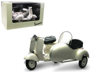 1955 Vespa Piaggio With Sidecar Motorcycle Scooter 1/6 Scale By Newray 48993