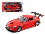 Mercedes Benz SLS AMG GT3 #8 Red 1/24 Scale Diecast Car Model By Motor Max 73356