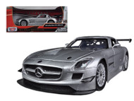 Mercedes Benz SLS AMG GT3 #8 Silver 1/24 Scale Diecast Car Model By Motor Max 73356