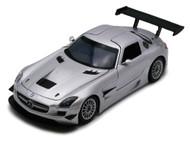 Motor Max 1/24 Scale Mercedes Benz SLS AMG GT3 #8 Silver Diecast Car Model 73356