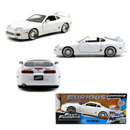 Jada 1/24 Scale Fast & Furious Brians Toyota Supra White Diecast Car Model 97375