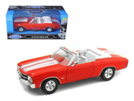 1971 Chevy Chevelle SS 454 Red 1/24 Scale Diecast Car Model By Welly 22089