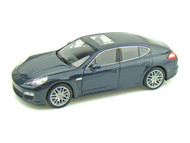 Porsche Panamera S Blue 1/24 Scale Diecast Car Model By Welly 24011