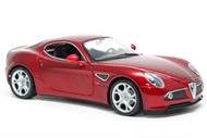 Alfa Romeo 8C Competizione Red 1/18 Scale Diecast Car Model By Welly 18013