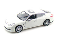 Porsche Panamera S White 1/24 Scale Diecast Car Model By Welly 24011 NO RETAIL BOX