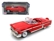 1958 Chevrolet Impala Convertible Red 1/18 Scale Diecast Car Model By Motor Max 73112