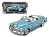 1953 Buick Skylark Convertible Blue 1/18 Scale Diecast Car Model By Motor Max 73129