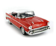 1957 Chevy Bel Air Hard Top Red 1/18 Scale Diecast Car Model By Motor Max 73180