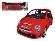 Fiat Abarth 500 Red 1/18 Scale Diecast Car Model By Motormax 79168