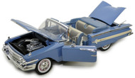 1960 Chevy Impala Convertible Blue 1/18 Scale Diecast Car Model By Motor Max 73110